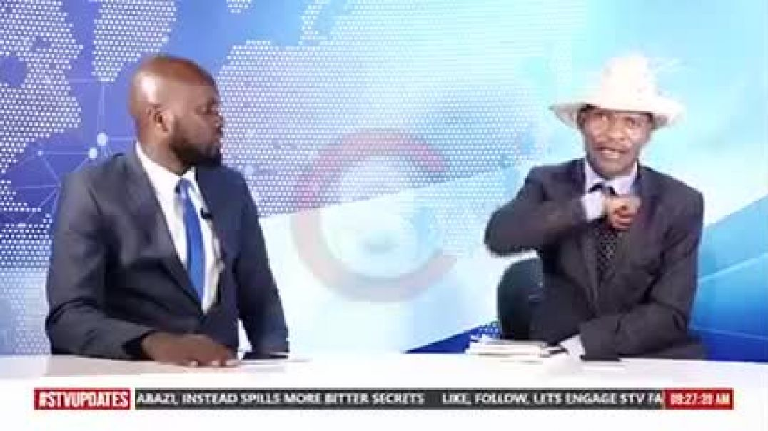 Tamale Mirundi pulls out a Panga on a TV show