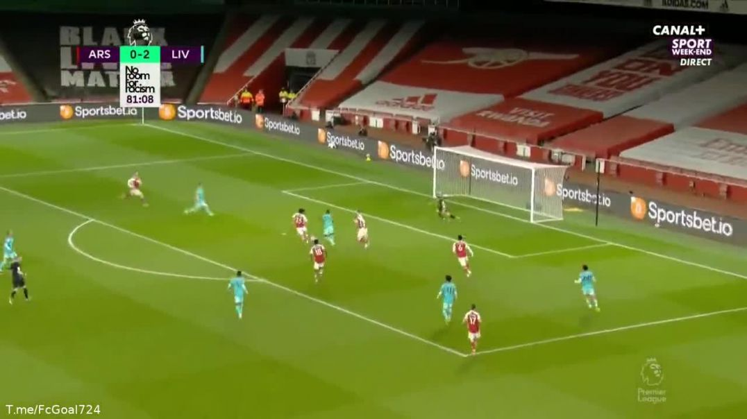Diogo Jota's second goal against Arsenal